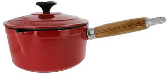 Chasseur French Enameled Cast Iron 1.3 Qt. Saucepan, Lid & Wood Handle