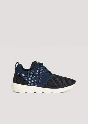 Emporio Armani Running Shoes With Embroidered Eagle