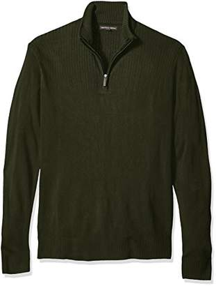 Geoffrey Beene Men's Size Tall- Quarter Zip Sweater