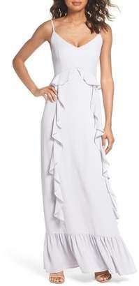 WAYF Loyal Ruffle Empire Maxi Dress