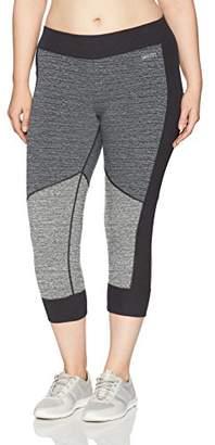 Calvin Klein Women's Plus Size Varigated Stripe High Waist S Crop Tight
