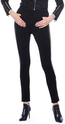 Gracia Leather Detail Pants