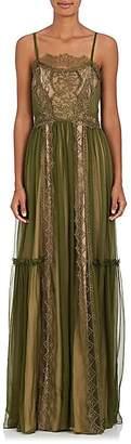 Alberta Ferretti Women's Silk Chiffon & Lace Gown