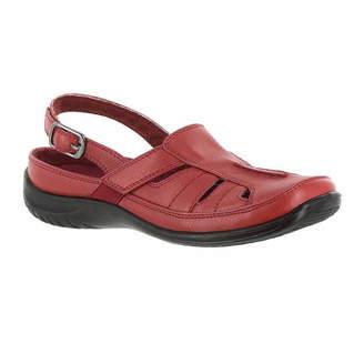 Easy Street Shoes Womens Splendid Pumps Buckle Square Toe Flat Heel