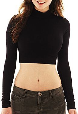 JCPenney Decree® Cropped Turtleneck Shirt