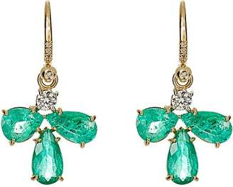 Irene Neuwirth Women's White Diamond & Emerald Drop Earrings