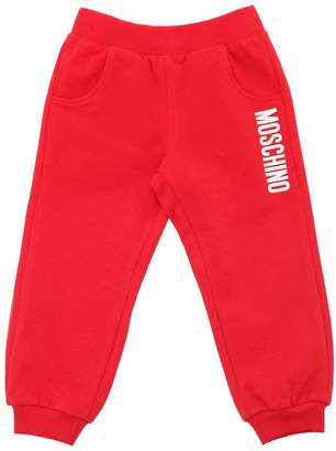 Moschino Logo Print Cotton Sweatpants