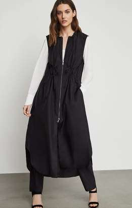 BCBGMAXAZRIA Sleeveless Long Utility Jacket