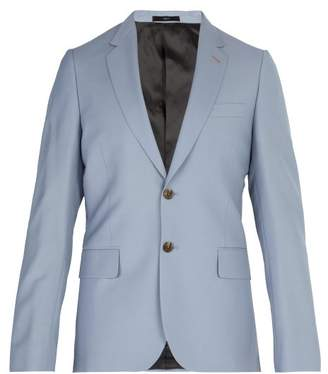 Paul Smith Single Breasted Wool Blend Blazer - Mens - Light Blue