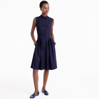 Tall sleeveless shirtdress in Super 120s $228 thestylecure.com