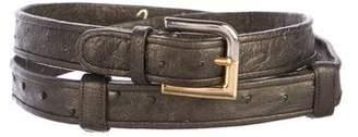 Judith Leiber Ostriche Buckle Belt