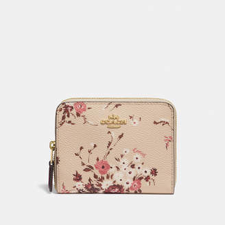 Coach Small Zip Around Wallet With Floral Bundle Print
