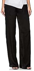 Juan Carlos Obando Women's Camilla Washed Satin Wide-Leg Pants - Black