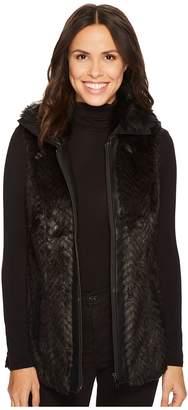 Tribal Zigzag Faux Fur Vest w/ Pockets Women's Vest