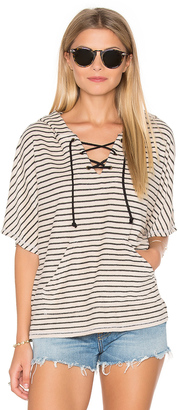 Michael Stars Playa Stripe Lace Up Baja Top $118 thestylecure.com