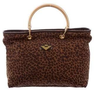 Bottega Veneta Nylon Leopard Crossbody Bag