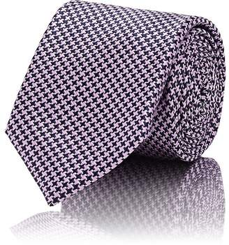Barneys New York Men's Houndstooth Silk-Blend Necktie