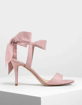 Charles & Keith Tie Back Bow Heels