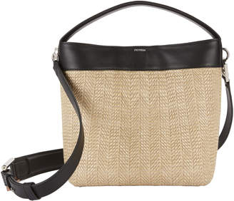 Perrin Le Mini Baggala Leather and Raffia Bag