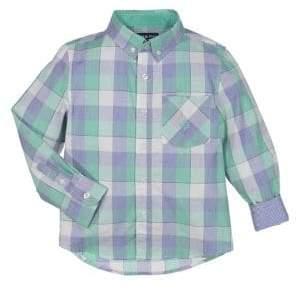 Andy & Evan Little Boys' Long Sleeve Plaid Shirt