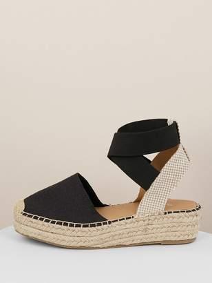 a42a65e6343 Shein Elastic Straps Jute Wrapped Flatform Sandals