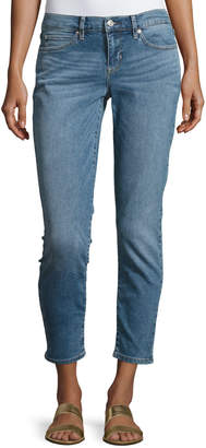 Nicole Miller Mid-Rise Skinny Jeans, Blue $69 thestylecure.com