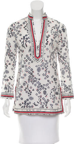Tory Burch Tory Burch Long Sleeve Embellished Tunic