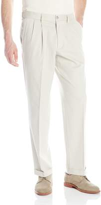 Dockers Comfort Stretch Khaki Classic-Fit Pleated Pant, Porcelain Khaki/Stretch, 34x30