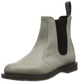 Dr. Martens Women's Flora Burnished Servo Lux Grey Boots Grey Grau (Grey)
