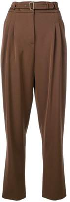 Alberta Ferretti high-waisted belt trousers