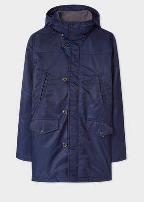 Paul Smith Men's Navy Quilted Down-Filled Parka