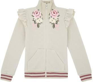 MonnaLisa Embroidered Zip Up Sweatshirt