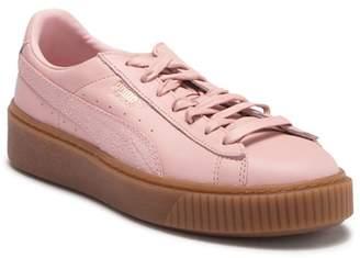 Puma Basket Platform Euphoria Gum Leather Sneaker