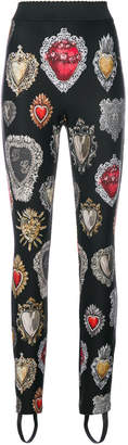 Dolce & Gabbana Sacred Heart leggings