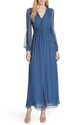 Nicholas Crinkle Silk Maxi Dress