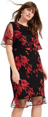Studio 8 Womens Red Raven Embroidered Dress - Red