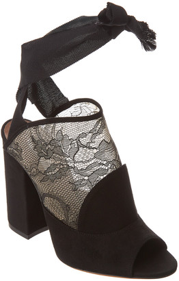 Tabitha Simmons Regina Lace & Suede Ankle-Wrap Sandal