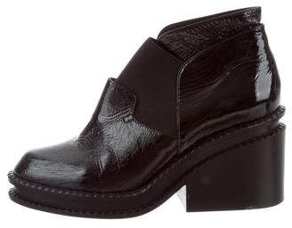 Robert Clergerie Patent Leather Booties