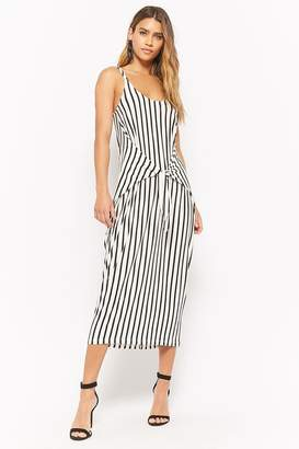 Forever 21 Striped Tie-Front Tank Dress