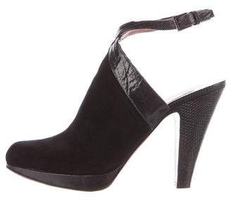 Alaia Leather Round-Toe Booties