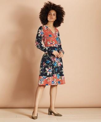 Brooks Brothers Floral-Print Satin Dress