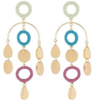 Free Press Thread Wrap Circle Mobile Earrings