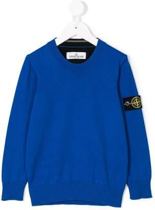 Stone Island Junior ribbed crewneck sweater