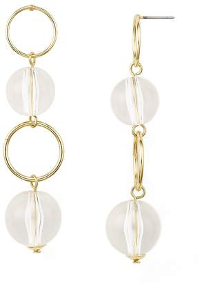 Aqua Linear Drop Hoop Earrings - 100% Exclusive