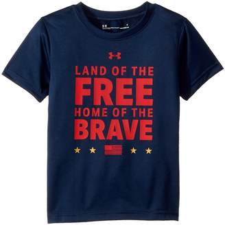 Under Armour Kids Land of The Free Short Sleeve Boy's Clothing
