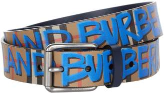 Burberry Graffiti Check Belt