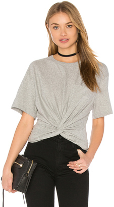 T by Alexander Wang Front Twist Short Sleeve Tee $150 thestylecure.com