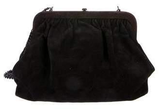 Bottega Veneta Suede Frame Crossbody Bag