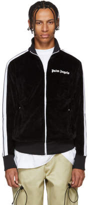 Palm Angels Black Velour Track Jacket