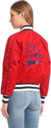 Nylon Bomber Jacket Gigi Hadid $295 thestylecure.com